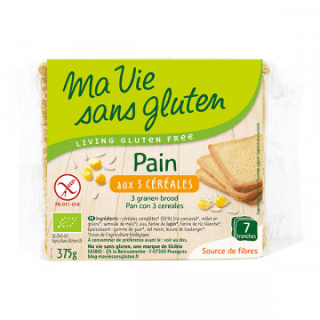 PAIN 3 CEREALES S/GLUTEN MA...